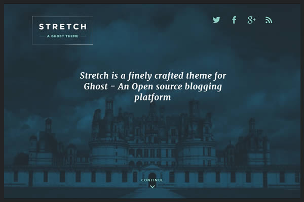 Stretch Theme for Ghost  A minimalistic Ghost blog theme